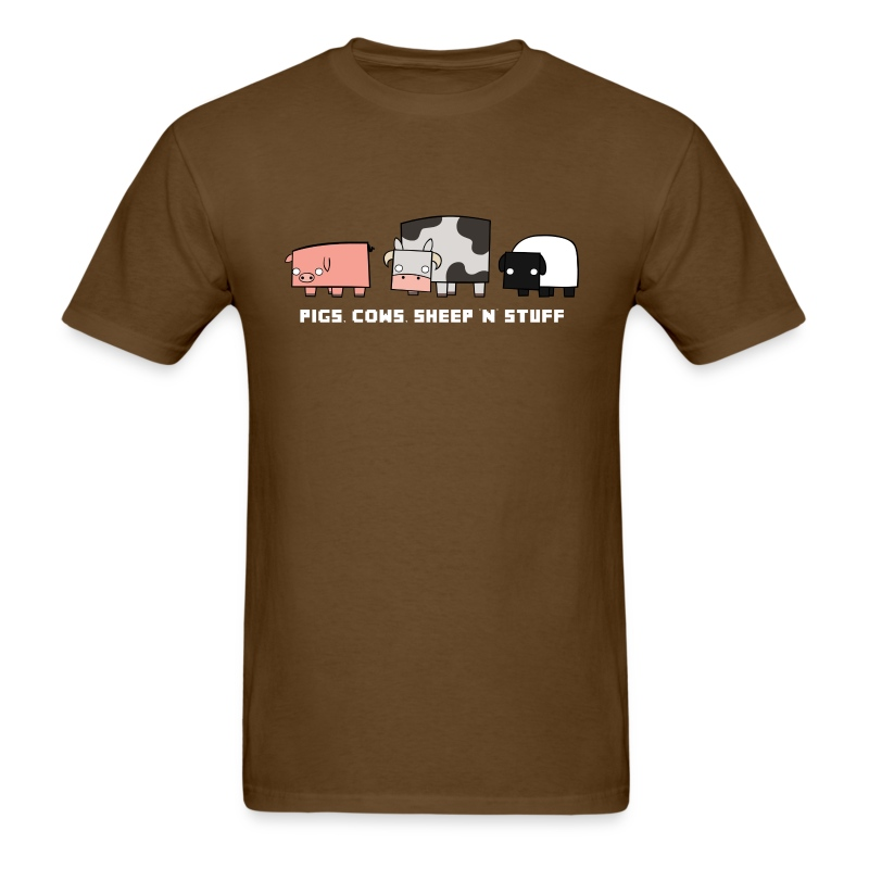 Men's Pigs, Cows, Sheep 'n' Stuff T-Shirt - Men's T-Shirt