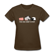 Women's T-Shirts ~ Women's T-Shirt ~ Women's Pigs, Cows, Sheep 'n' Stuff T-Shirt