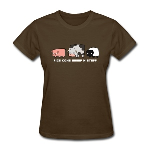 Women's Pigs, Cows, Sheep 'n' Stuff T-Shirt - Women's T-Shirt
