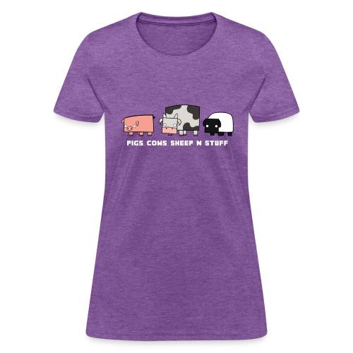 Women's Pigs, Cows, Sheep 'n' Stuff T-Shirt - Women's T-Shirt