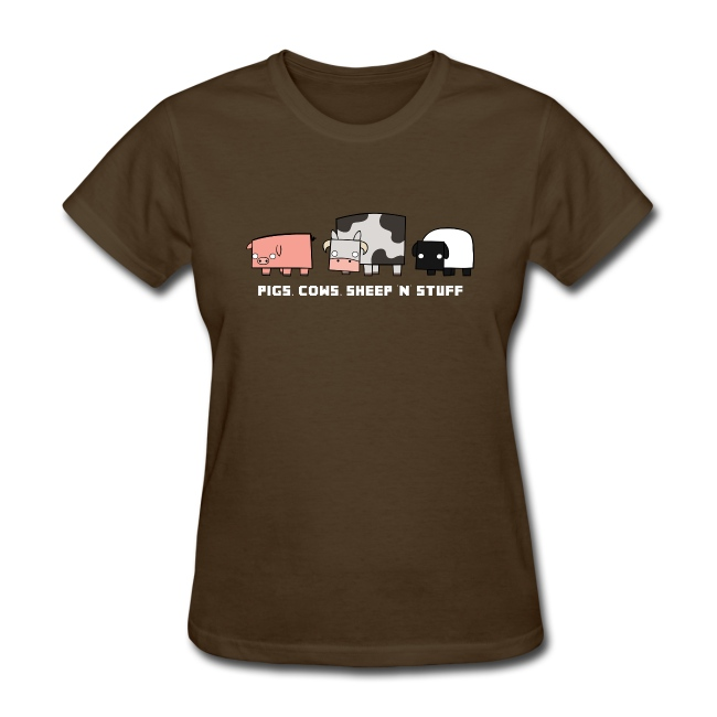 Women's Pigs, Cows, Sheep 'n' Stuff T-Shirt