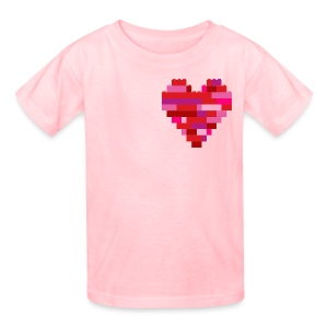 Heart in bricks - Kids' T-Shirt