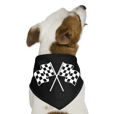 Checkered Flags Dog T-Shirts