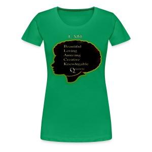 Black Queen Green Shirt - Women's Premium T-Shirt