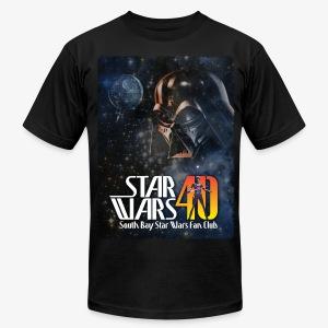 Men's Black SBSWFC 40th Anniversary American Apparel Tee - Men's Fine Jersey T-Shirt