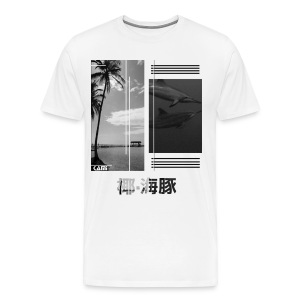 Palm-Trees and Dolphins - Men's Premium T-Shirt