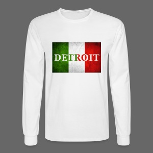 Detroit Italian Flag - Men's Long Sleeve T-Shirt