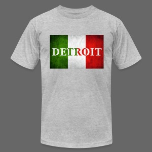 Detroit Italian Flag - Men's T-Shirt by American Apparel