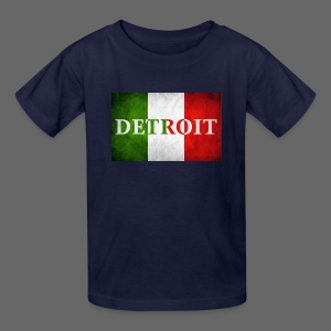 Detroit Italian Flag - Kids' T-Shirt
