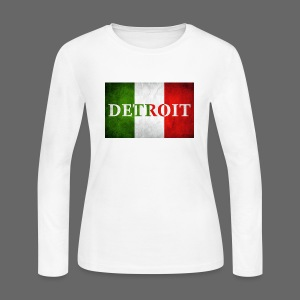Detroit Italian Flag - Women's Long Sleeve Jersey T-Shirt