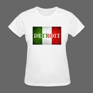 Detroit Italian Flag - Women's T-Shirt