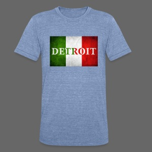 Detroit Italian Flag - Unisex Tri-Blend T-Shirt by American Apparel