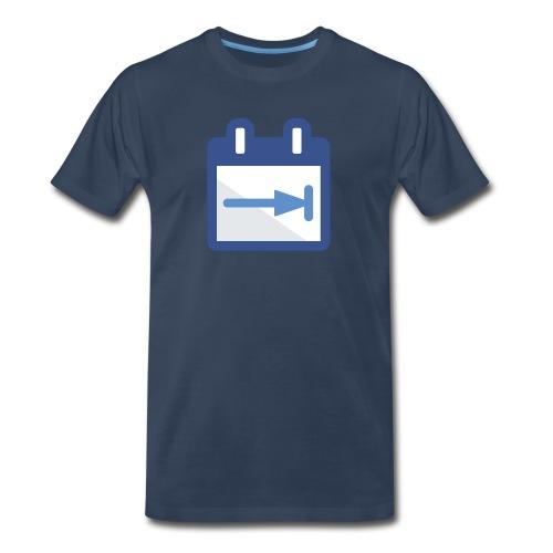 OLD DayBack Logo Men's T-Shirt Navy - Men's Premium T-Shirt