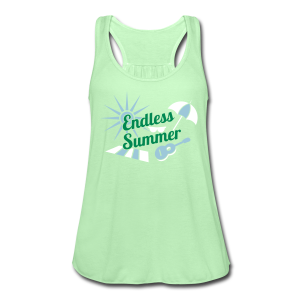 Endless Summer Flowing Tank Top - Mint Green, White, Gray - Women's Flowy Tank Top by Bella