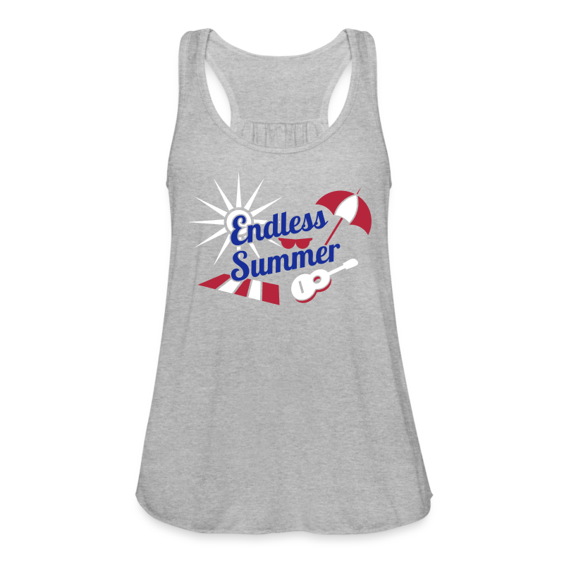 Endless Summer Flowing Tank Top - Red, White, Blue - Women's Flowy Tank Top by Bella
