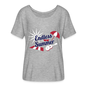 Endless Summer Flowy Shirt - Red White Blue - Women's Flowy T-Shirt