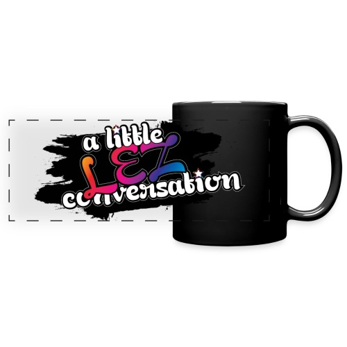 A Little Lez Conversation. Wrap-around Mug. - Full Color Panoramic Mug