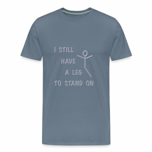 Leg to Stand on, stick figure - Men's Premium T-Shirt
