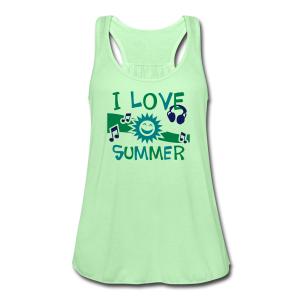 I Love Summer Flowing Tank Top - Women's Flowy Tank Top by Bella