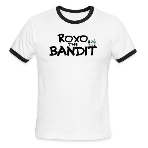 Roxo the Bandit Ringer Tee (Black & White) - Men's Ringer T-Shirt