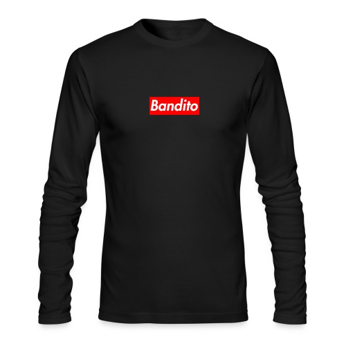 Bandito Box Logo Long Sleeve Tee (Black) - Men's Long Sleeve T-Shirt by Next Level