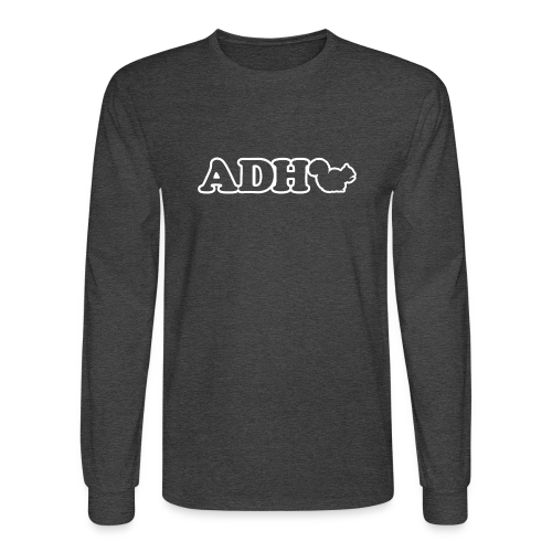 ADHD Squirrel  - Men's Long Sleeve T-Shirt