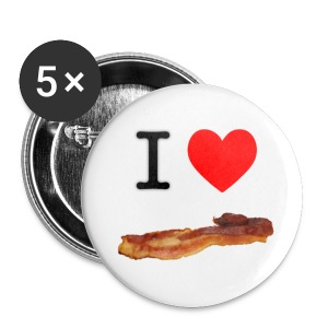 I (Heart) Bacon Pins - Small Buttons
