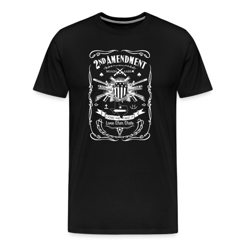 2nd Amendment - Texas - Men's Premium T-Shirt