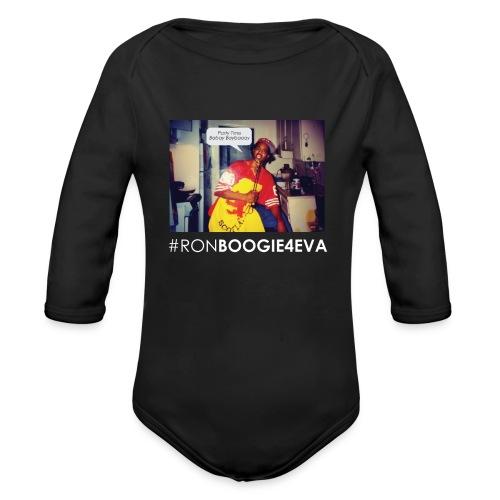 Ron Boogie 4 Eva Black T-Shirt | Toddler  - Organic Long Sleeve Baby Bodysuit