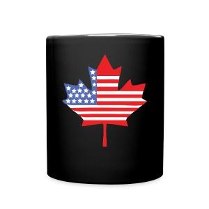 Canadian American Canada + USA Flag Mug - Full Color Mug
