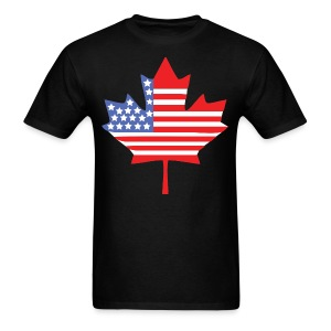 Canadian American Canada + USA Flag Shirt - Men's T-Shirt