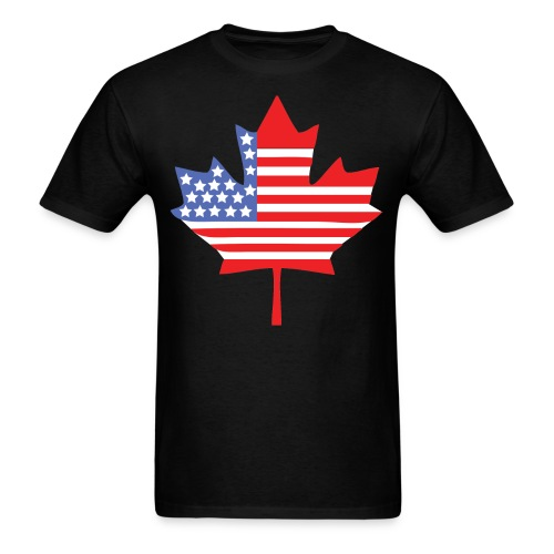 Canadian American Canada + USA Flag Shirt - Men's T-Shirt