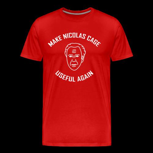 Make Nicolas Cage Useful Again (Mens) - Men's Premium T-Shirt