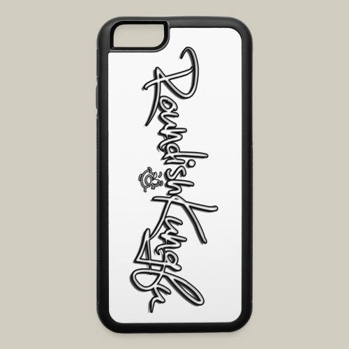 iPhone 6/6s Case with Roundishkungfu Logo - iPhone 6/6s Rubber Case