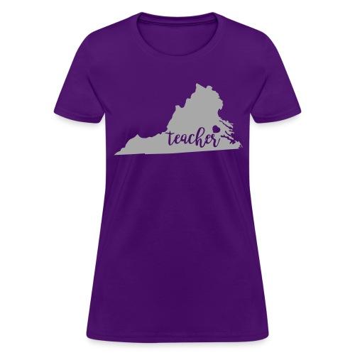 Glitter Virginia teacher - Women's T-Shirt