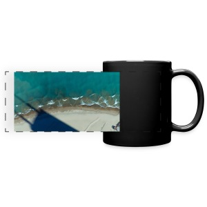 Building Shadow on Beach - Full Color Panoramic Mug