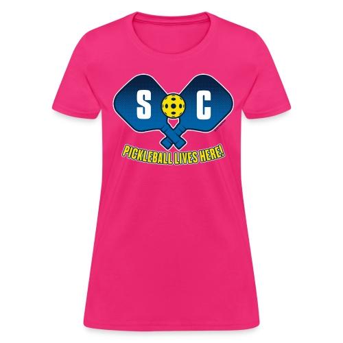 Pickleball lives Here_ South Carolina - Women's T-Shirt