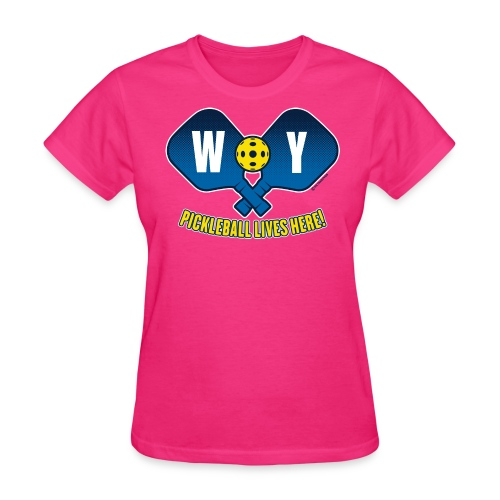 Pickleball Lives Here_Wyoming - Women's T-Shirt