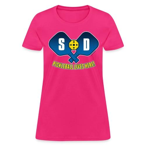 Pickleball Lives Here_ South Dakota - Women's T-Shirt