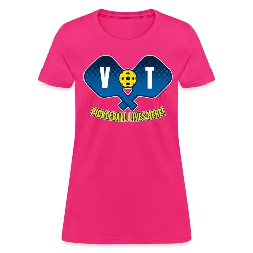 Pickleball Lives Here_ Vermont - Women's T-Shirt