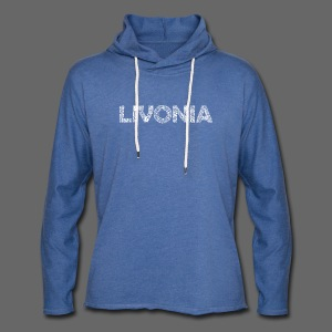 Livonia Michigan Words - Unisex Lightweight Terry Hoodie