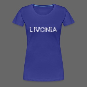 Livonia Michigan Words - Women's Premium T-Shirt