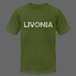 Livonia Michigan Words - Men's T-Shirt by American Apparel