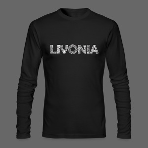 Livonia Michigan Words - Men's Long Sleeve T-Shirt by Next Level