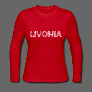 Livonia Michigan Words - Women's Long Sleeve Jersey T-Shirt