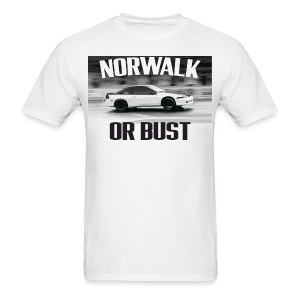 Norwalk or Bust - White Tee - Men's T-Shirt