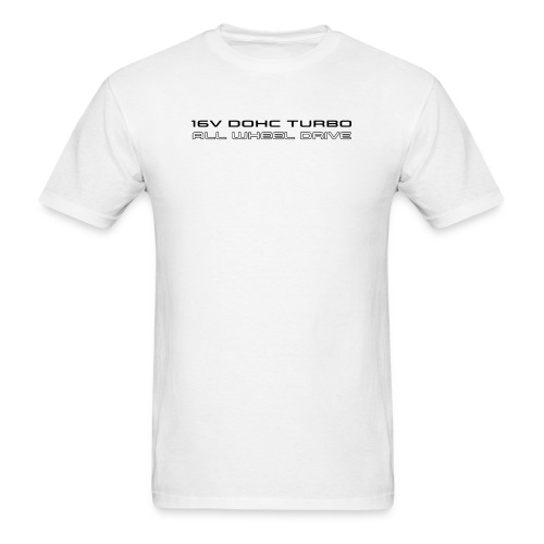 16V DOHC Turbo AWD Shirt - White Tee - Men's T-Shirt