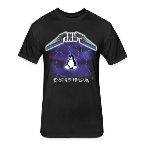 Ride the Penguin - Fitted Cotton/Poly T-Shirt by Next Level