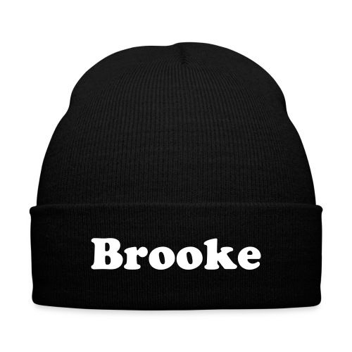 Brooke Beanie - Knit Cap with Cuff Print