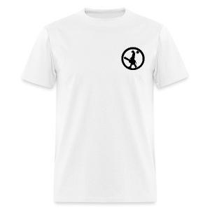 Dog Circle Corner Black on White - Men's T-Shirt